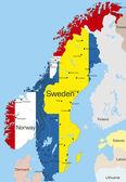 Norway and Sweden — Stock Vector