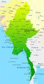Myanmar — Stock Vector