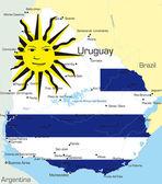 Uruguay — Stock Vector