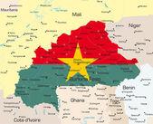 Burkina Faso country — Stock Vector