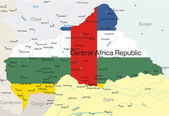 Centralafrikanska republiken land — Stockvektor