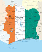 Cote d'Ivoire — Stock Vector