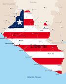 Liberia — Stock Vector
