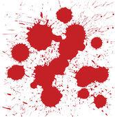 Vector set of grunge blood spot — Stock Vector