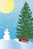Winter holiday background — Stockvektor