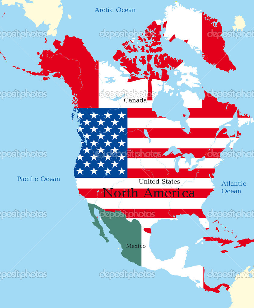Map Of North America  Stock Vector - Download map of north america
