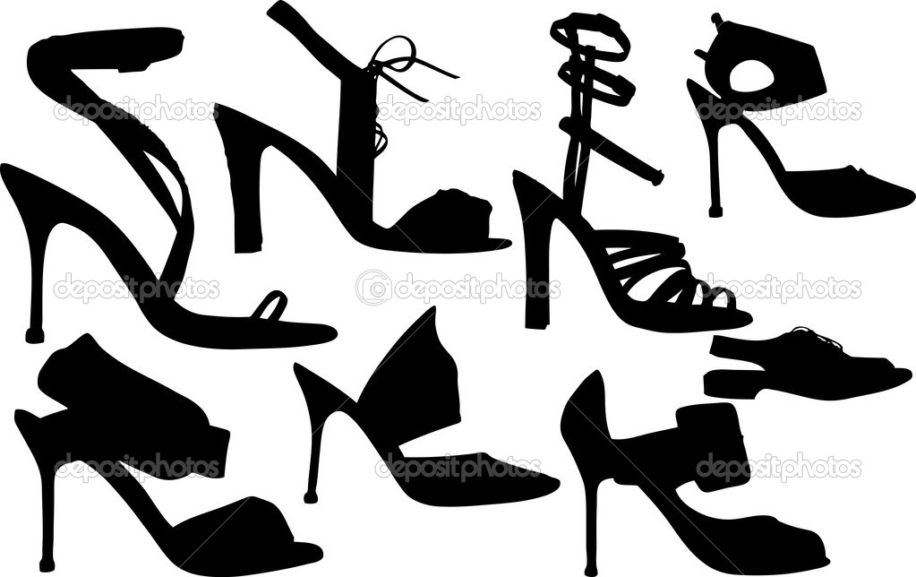 Vector Illustration of fashion women shoes vector  Stock Vector #2124151