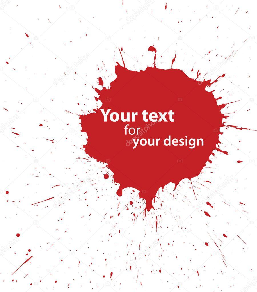 血液的现场为您的设计