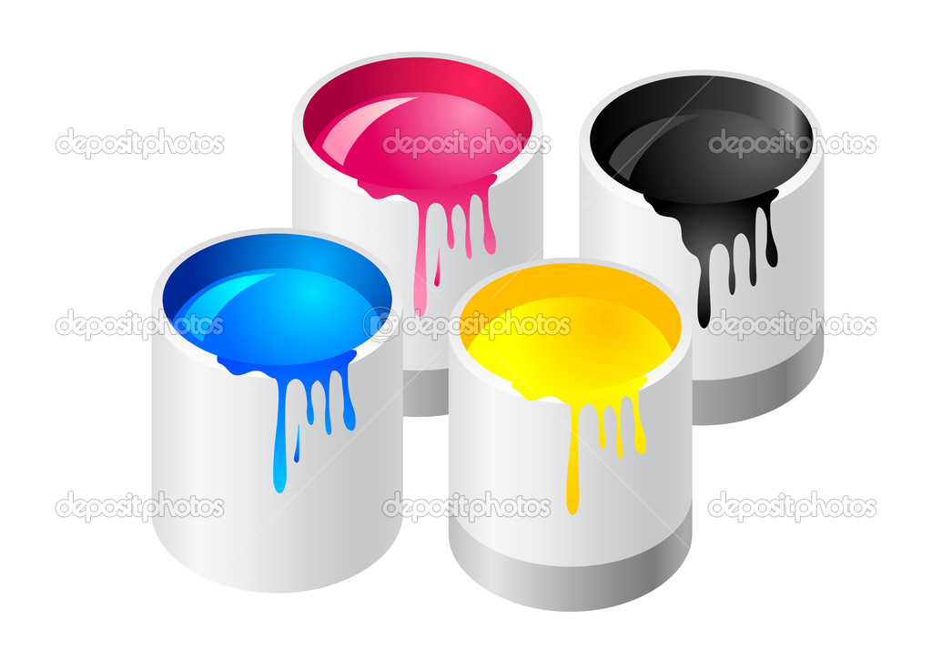 Abstract vector illustration of paint canister — Stock Vector #2125403