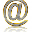 Bling e-mail symbol — Stockfoto