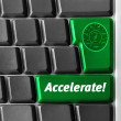 """Accelerate"" key — Stock Photo"