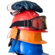Royalty-Free Stock Photo: Hardhats, gloves and goggles