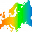 Europe color vector map — Stock Vector #2134054