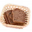 Bread at basket — Stock Photo