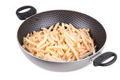 Fried potatoes in Teflon pan — Stock Photo