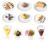 Set of desserts — Stock Photo