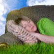 Outdoor sleeping — Stock Photo