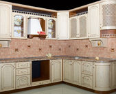现代厨房内部 — 图库照片