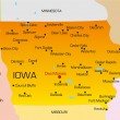 Iowa — Stockvectorbeeld