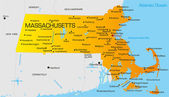 Massachusetts — Stock Vector