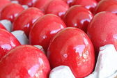 Red Coloured Eggs — Stock Photo