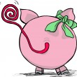 Funny pig - back side - Stock Vector