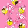 Stock Vector: Bees collection