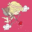 Little cupid is ready — Vector de stock #2138493
