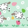 Stock Vector: Easter sheep
