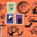 Halloween wysyłka zestaw — Wektor stockowy