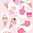 Ice cream background — Stock Vector