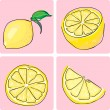 Icon set of lemon fruit — Stock Vector #2139141