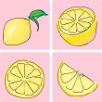 Icon set of lemon fruit — Stock Vector