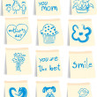 Stockvektor : Mother`s day icon set