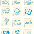 Vector de stock : Mother`s day icon set