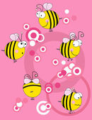 Bees collection — Stock Vector