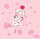 Cupcake fairy — Stock Vector