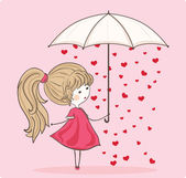 Love rain — Stock Vector