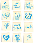 Mother`s day icon set — Stockvektor