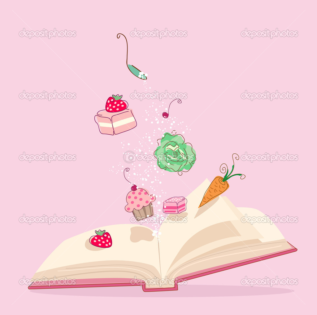 Vector illustration of magic cook book. — Stock Vector #2138127