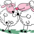 Romantic sheep — Grafika wektorowa