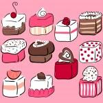 Romantic sweets — Stock Vector
