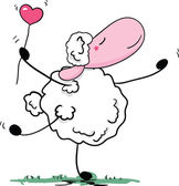 Romantic sheep dance — Vector de stock