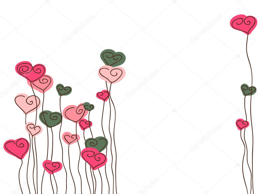 Vector illustration of Valentine`s Day card with hearts. — Stock Vector #2141247