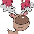Royalty-Free Stock Vector Image: Reindeer with candles