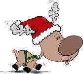 Reindeer in hurry — Stock Vector