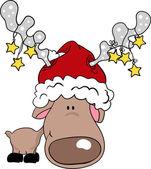 驯鹿圣诞老人 — 图库矢量图片