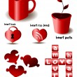 Vector heart set — Stock vektor