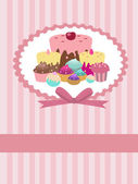 Cupcake background — Stock Vector