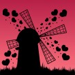Royalty-Free Stock Imagem Vetorial: Abstract windmill